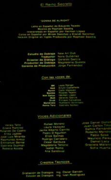 Doblaje Latino de El Reino Secreto (Versión Cine)