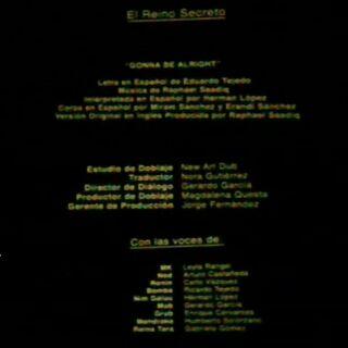 Créditos del Cine