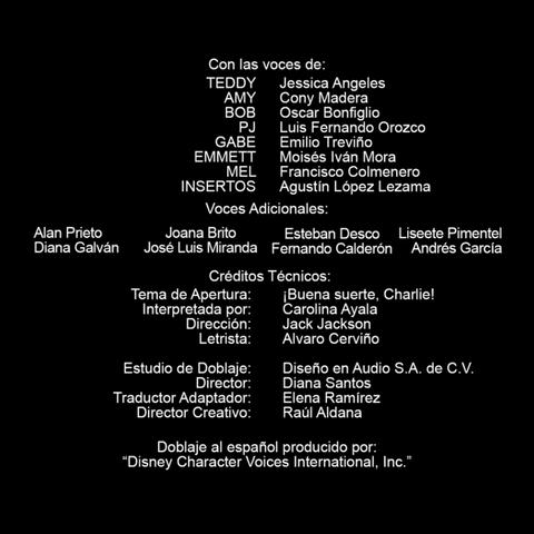 Créditos de la primera temporada.