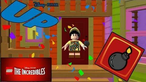 """¡¡DESBLOQUEANDO A RUSSELL (UP) Y LADRILLO ROJO """"CONTACTO EXPLOSIVO"""" - LEGO LOS INCREIBLES"""