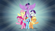 Mane Six sing when we're with our team S7E2