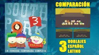 South Park T3 Episodio 01 1999 Comparación del Doblaje Original y 2 Redoblajes Español Latino
