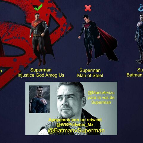 Mario Arvizu para la voz de Superman
