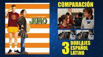 Juno -2007- Doblaje Original y 2 Redoblajes - Español Latino - Comparación y Muestra