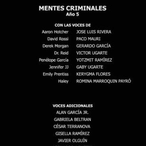 Créditos de la quinta temporada.