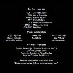 Créditos de la cuarta temporada.