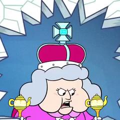 Reina de Inglaterra en <a href=