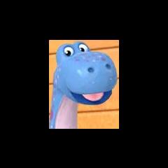 Bronty, el Dinosaurio Azul en <a href=