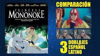 La Princesa Mononoke -1997- Doblaje Original y 2 Redoblajes - Español Latino - Comparación y Muestra