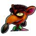 Crash Team Racing Nitro-Fueled Pinstripe Potoroo Icon
