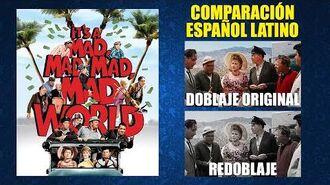 El Mundo está Loco, Loco, Loco -1963- Doblaje Original y Redoblaje - Español Latino - Comparación