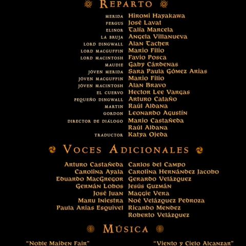 Créditos del Cine, DVD y Blu-ray 2D/3D.