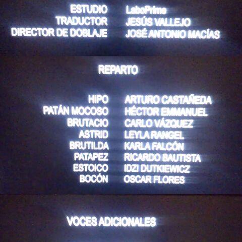Créditos del Blu-ray