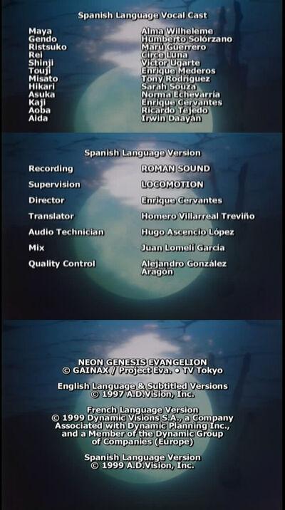 Créditos de Evangelion
