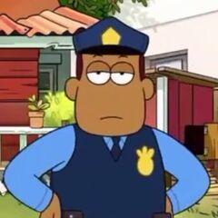 Policía aburrido en <a href=