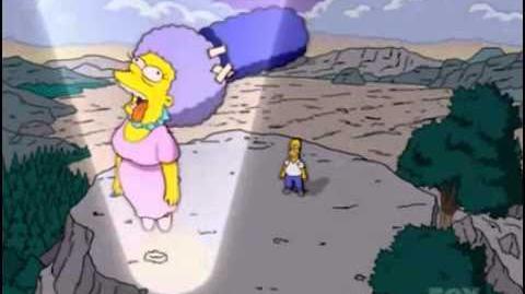 La muerte - simpson latino aqui hace la voz de dios y dice es su hermana gorda selma