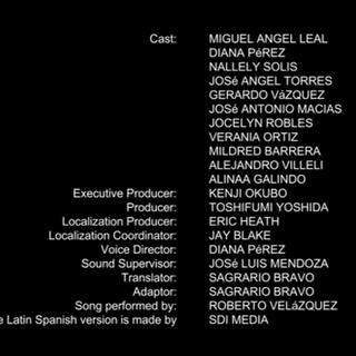 Créditos de doblaje de la temporada 17 en Netflix.