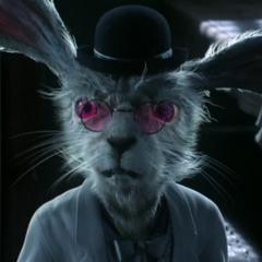 Percy, el conejo blanco en <a href=