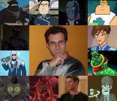 Sergio y algunos de sus personajes