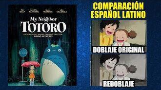 Mi Vecino Totoro -1988- Doblaje Original y Redoblaje - Español Latino - Comparación y Muestra