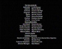 Créditos de doblaje de Patoruzito (TV) (TNT)