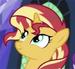 Sunset pony espejo