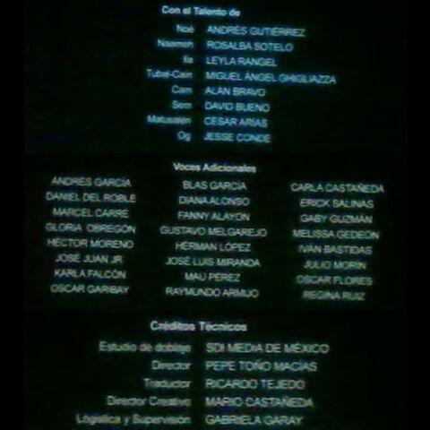 Créditos de Cine