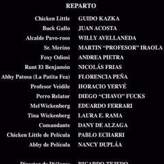 Créditos del DVD (Español Argentino).