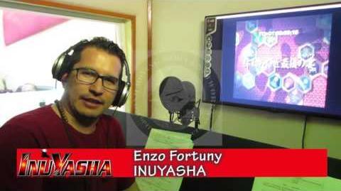 Enzo Fortuny INUYASHA saludo desde OPTIMEDIA BOND MÉXICO Grabación capítulos 161-167