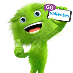 La mascota actual de Movistar (GoValientes).
