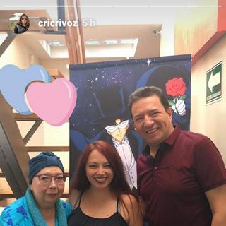 Cristina junto a Rocío Garcel y Gerardo Reyero (Luna y Darien)