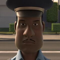 Policía en <a href=