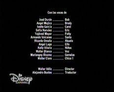 Creditos de doblaje de Una navidad congelada (TV) (DC)