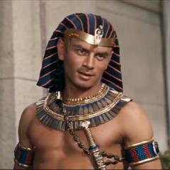 Faraón Ramsés II en el segundo doblaje también de <a href=