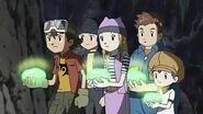Takuya y sus amigos usan el musgo para iluminar en el bosque - Latino