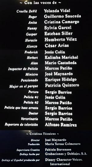CRÉDITOS101DÁLMATAS1996