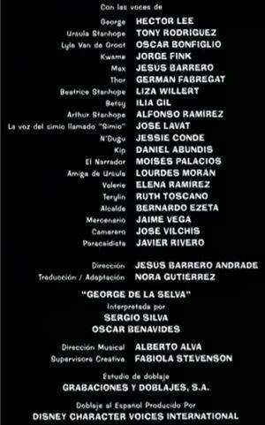 Doblaje Latino de George de la Selva