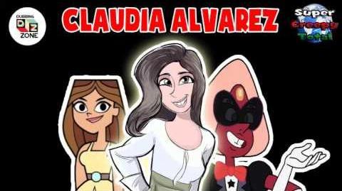 Entrevista a Claudia Alvárez en Dubbing Zone con Súper Creepy Total