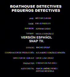 Pequeños detectives creditos breves en español latino