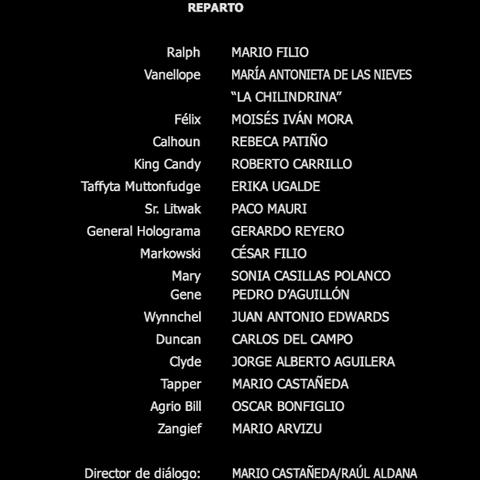 Créditos del DVD y Blu-ray 2D/3D.