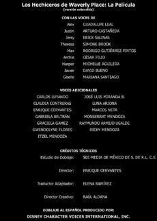 Doblaje Latino de Los Hechiceros de Waverly Place La Película