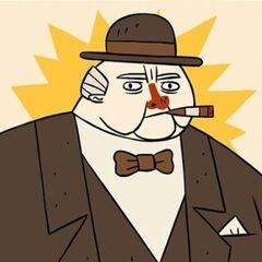 Winston Churchill en <a href=