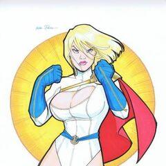 Power Girl una de las personajes que doblo Luna