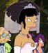 Amy de novia en la bestia con billones de brazos