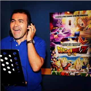 Mario Castañeda en la grabación de la película