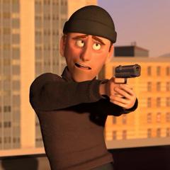 Ladrón en el edificio en la versión argentina de <a href=