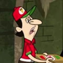 Repartidor de pizzas en <a href=