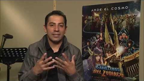 Caballeros del Zodiaco- La leyenda del Santuario -entrevista a Ricardo Mendoza-