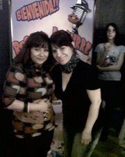 Carmen con la Directora y Actriz mexicana Rossy Aguirre