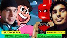 Entrevista a Jorge Bringas (Steven en Steven Universe) y Gherald de Fonseca (Capucha Roja)